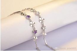 zircon 925 sterling silver bracelet rose gold bracelet crystal charm bracelet