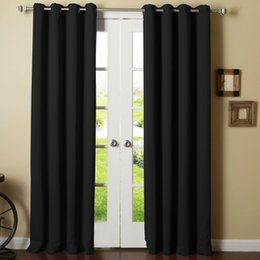 Wholesale Home Textiles Thermal Insulated Blackout Panels Grommet Top Curtain Draperies Available for Shipment Exclusively within the U S