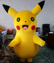 Wholesale Lovely Pikachu Mascot Costume Party Cute party Fancy Dress Adult Children Size Factory Direct Sale Fast Ship best Quality lower price