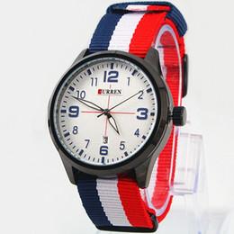 2017 Newest Brand Watch Women Men Nylon Strap Military Quartz Wristwatch Clock hombre CURREN Dress Watches 42mm