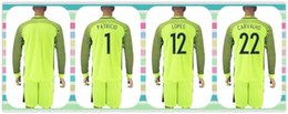 Wholesale New Product Uniforms Kit Portugal European cup Patricio CARVALHO Lopes Soccer Jersey Goalkeeper Light Green Long Sleeve Jersey