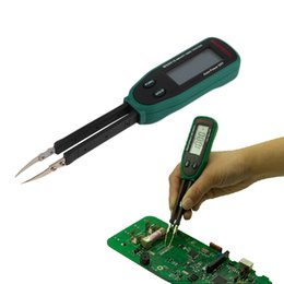 Wholesale New Tweezers Smart SMD RC Resistance Capacitance Diode Meter Tester Auto Scan Educational Equipment High Quality