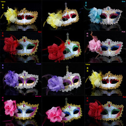 Wholesale Women Attractive Mask Halloween Venetian Eye Mask Cosplay Half Face Masks With Color Happy Easter Dance Party Mask P C