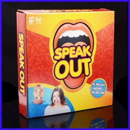 Wholesale New Hasbro Speak Out Games Ridiculous Mouthpiece Challenge Game game for your mouthpiece with paper cards