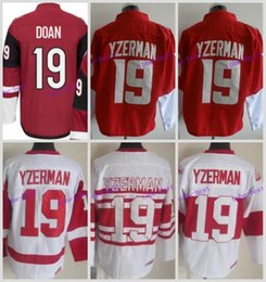 High Quality Mens Detroit Red Wings Jerseys #19 Steve Yzerman Winter Classic CCM Vintage Ice Hockey Jersey,Accept Customized