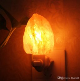 Wholesale Natural Himalayan Salt Night Light Decorative Air Purifier Wall Lamp Cylinder Light Nursery Lamp Natural Crystal Lamp US EU AU UK Plug