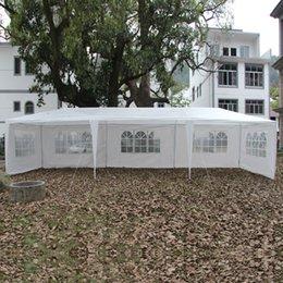 Wholesale 3x9m Patio Wedding Party Tent Gazebo Pavilion Canopy w Side Walls Waterproof Foldable Tent White USA