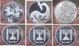 Wholesale 30 set Rare Bible story Jonah Samson Ilya silver plated Israel souvenir coins set