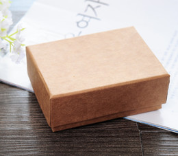 [Simple Seven] Free Shipping High Quality Muji Necklace Jewelry Box  Lovers Ring Case  Gift Package  Kraft paper Box (Middle)