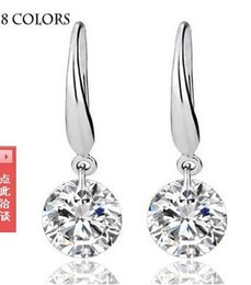 Wholesale European and American fashion explosion models sterling silver star with zirconium Dan Ruili fashion zircon earrings