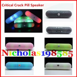Wholesale XC Critical Crack Pill LED Light Mini Portable Wireless Bluetooth Speaker Bulit in Mic Handsfree Speaker BT808L JHW V318 X70 RC S910