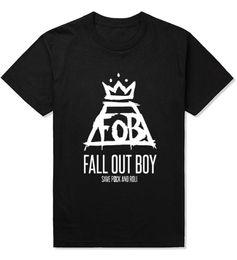 FOB Fall Out Boy Cool Print Man T Shirt Fashion Fitness Male Brand Gym Clothing Cotton Men Funny Tees Shirts Camisa AMD232