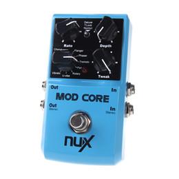 Efectos de modulación en Línea-NUX MOD Core guitarra del efecto del pedal 8 Modulación Efectos preajuste de tono de bloqueo de alta calidad de piezas de la guitarra Accesorios