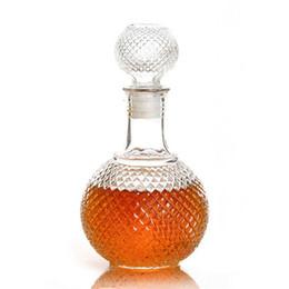 2017 verre bouchons de vin 2015 Nouvelle arrivée vente chaude 250ml Cristal Whiskey vin Prise de vue Bouteille en verre avec bouchon Stopper potable Bar Decanter verre bouchons de vin promotion