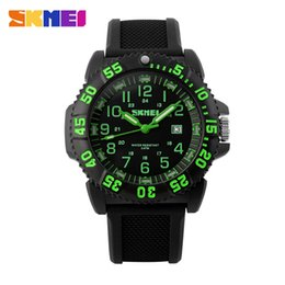 Wholesale Top Luxury Brand Men s Watch M Waterpro of Silicon Band Men Rotatable compass Sport Quartz Casual Military Watch with Luminous Auto Date