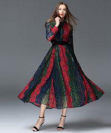 Новое прибытие A-Line Plus Размер трехцветной Щитовые шнурка Mid-теленок платье от Производители подкладке панель