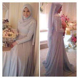 Innovative Design 2016 Muslim Chiffon Custom Made Wedding Dress Islamic Bridal Gowns Bridal Bride Ball Dress