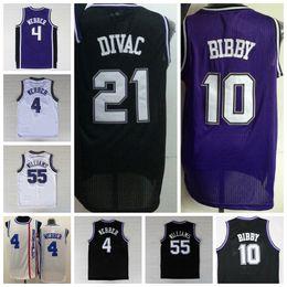 Wholesale 2016 Retro Mike Bibby Jersey Men Rev Fashion Jason Williams Throwback Shirt Chirs Webber Vlade Divac Black Purple White