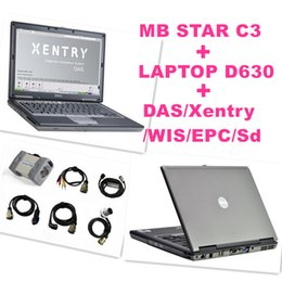 Wholesale Best for Mercedes Benz Diagnosis MB Star C3 Multiplexer Scanner Tool V2016 XENTRY Software HDD D630 Laptop