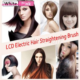 Professional Hair Straightener Comb LCD Display Electric Straightening Irons Straight Hair Brush Straightener With Package