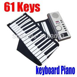 61 teclas portable electrónico digital de órganos de MIDI Digital de enrollar piano del teclado suave grande del descuento de envío gratuito desde enrollar 61 teclas fabricantes