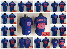 Wholesale Elite Chicago Cubs Dawson Schwarber Banks Kris Bryant Anthony Rizzo Jake Arrieta Signed Custom Jersey Signature