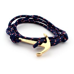 Wholesale Anchor bracelets Infinity bracelet Wrap Rope Charm Fish Hook With Paracord For Men And Women Miansai Style fashion jewelry