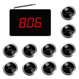 SINGCALL Wireless System, 1 screen display,display 3 group number and 10 multy-key bells