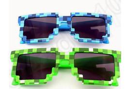 Wholesale Pixelated Bit sunglasses Code Programmer Retro Pixelated Video game Party JJ Creeper Square Glasses color LJJK70