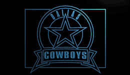 Promotion panneaux de cowboy LS888-b-Dallas-Cowboys-Badge-Neon-Light-Sign