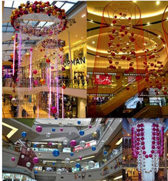 Wholesale 24 Christmas ball mall store Decor room ceiling plated ball Pendat wedding decorations artificial flowers festival Christmas Halloween