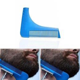 Wholesale 2016 Hot Beard Bro Beard Shaping Tool Sex Man Gentleman Beard Trim Template hair cut hair molding trim template beard modelling tools