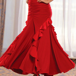 2018 Custom Made Women Dress For Ballroom Dancing Lady Tango Jazz Waltz Dress Ballroom Dance Wear Performance Practice Skirts