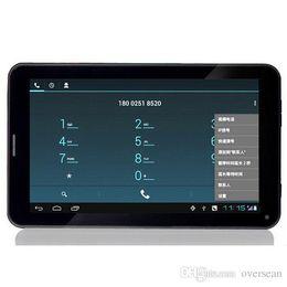 Dual core tablet pc à vendre-7 pouces Dual SIM 3G Appel téléphonique Tablette PC MTK6572 Quad Core 1 Go RAM 16 Go ROM Bluetooth GPS Haute qualité