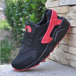 Wholesale 2016 low price High Quality Air Huarache Ultra Run Mesh Breathe Running Casual shoes Mesh Men Women s Huaraches Sneakers Size EUR