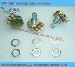 Wholesale B10K K OHM WH148 Linear Single Rotary Potentiometer Pots Shaft MM With Nuts And Shim