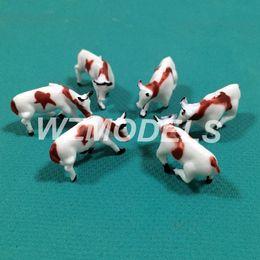 20pcs Ho Railway Scenery Layout Plastic Model Cattle Farm Animal Model 1;150 Miniature Model Cow for sale