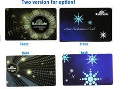 wholesale manufacturer Radisafe anti Radiation card EMF protection radiation shield card bio energy card 5pcslot fee shiping