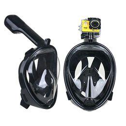 Wholesale Brand Underwater Diving Mask Snorkel Set Swimming Training Scuba mergulho full face snorkeling mask Anti Fog For Gopro Camera DHL