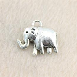 15Pcs 20*18mm antique Silver Toneelephant Charms Zinc Alloy DIY Handmade Jewelry Pendants Wholesale