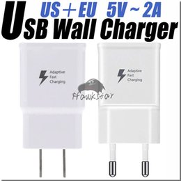 Wholesale For Samsung fast Charger Adapter Fast USB Wall Charging UK EU US Plug Travel Universal NOTE s6 s7 edge Hight quality V A V A