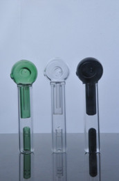 Wholesale newest in sotre colorful Mini handle glass pipe smoking pipe Spoon Bubbler Hybrid Spill Proof smoking bong