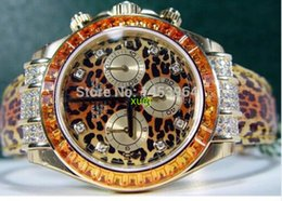 Wholesale 2016 AAAA Luxury New Factory Supplier leopard print Dial Stainless Steel Automatic Mens Men s Watch Watches