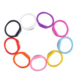 Kids Candy Color Anion Pedometers Silicone Fitness Tracker Silicone Wristband Bracelet Pedometer Potable Outdoors Tools 2503019