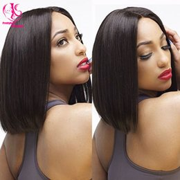 Fashion Short Straight Bob wigs Hairstyle Wig Jet Black 1b for Women Nice Cute Bob Haircut Synthetic Lace Front Wigs black wig