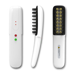 Portable low level therapy hair regrowth laser comb with 16 diodes laser for personal home use