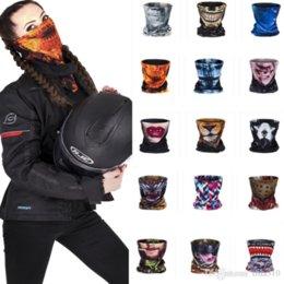 Vente en gros - Écharpe créative de crâne Écharpe magique Échauffeur d'hiver Écharpe anneau Halloween Masques hommes et femmes Écharpe magique A0367 à partir de foulards gros anneaux fabricateur