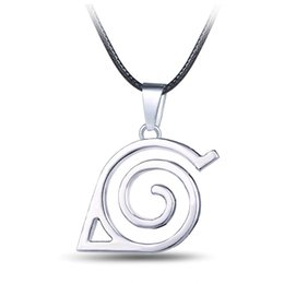 Hot!Fashion Anime Naruto Cosplay Konoha Symbol Silver Pendant Necklace Multifunctional Jewelry Keychain(Size:3.5cm*3.5cm,length:42cm+6cm)