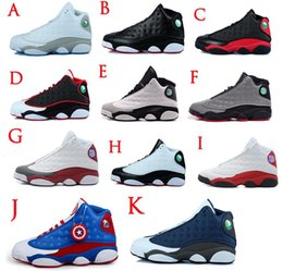 2016 Cheap Original Retro 13 XIII Mens Basketball Shoes Bred Navy Game hologram grey toe Flint Grey Athletics Sport Sneaker Boots