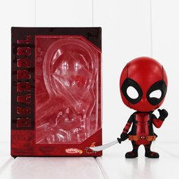 9.5cm Hot Toys Deadpool Cosbaby PVC Action Figure Collectable Model toy for kids toy free shipping retail